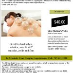 """Traditional Chinese Medicine practice of """"cupping"""""""